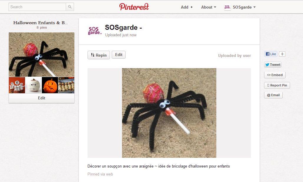 Partager Vos Costumes Bricolages Recettes D Halloween Avec Nous Sur Pinterest Sosgarde Blogue